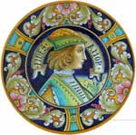 Majolica Plate - FIDES AMOR M 25cm
