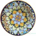 Ceramic Majolica Plate Acanthus
