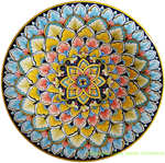 Ceramic Majolica Plate Geometrico Blue 30cm