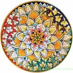 Ceramic Majolica Plate RGB Orange 20cm