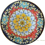 Ceramic Majolica Plate - Acanthus Red/Orange 25cm