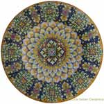 Ceramic Majolica Plate Orange Blue - 63cm