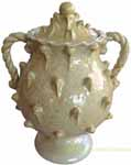 Tuscan Handcrafted Centerpiece/Urn - Honey with Pine