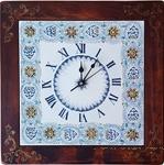 Italian Majolica Clock - Palmette/Jubilant - 40cm