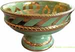 Tuscan Handcrafted Centerpiece/Bowl - Light Green/Gold