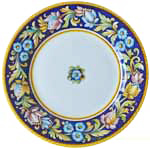 Deruta Italian Salad Plate - Blue Flower