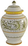 Italian Ceramic Centerpiece Urn - Delfini Small