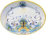 Deruta Italian Ceramic Oval Platter - D198