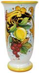 Deruta Italian Ceramic Vase - Lemons and Grapes