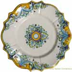 Decorative Non-Hanging Plate - D'Oro Scalloped - 20cm