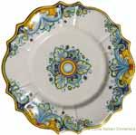 Decorative Non-Hanging Plate - D'Oro Scalloped - 20cm