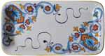 Deruta Italian Rectangular Platter - Ornato Blu 45cm