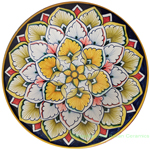 Ceramic Majolica Plate Orange Flower 6