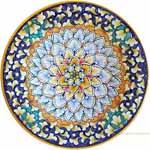 Majolica Plate - Ringed Peacock 30cm