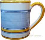 Majolica coffee mug cup - Pennellato Blu Chiaro