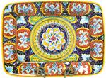 Deruta Italian Ceramic Rectangular Platter - Deruta Ricco Red