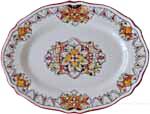 Deruta Scalloped Oval Platter - 38cm