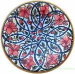 ceramic majolica plate budding roses 20cm