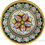 Hanging/Dipping Plate - Red Orange Star Blue - 15cm