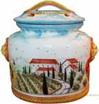Biscotti Cookie Jar - Tuscan Poppies 27cm