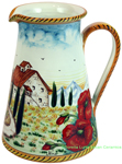 Tuscan Country Poppies Pitcher