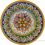Hanging/Dipping Plate - Red Yellow Flower - 15cm