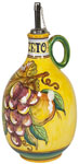 Vinegar Dispenser GP Yellow with Red Grapes 20cm