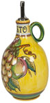 Vinegar Dispenser GP Yellow with White Grapes 20cm