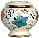 Urn - Autumn Leaves Gold Petit
