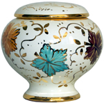 Urn - Autumn Leaves Gold Small