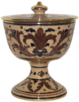 Urn - Pisside Brown and Creme Oro - Gold