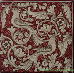 Tile Fonda Rossa - Red Doves Corner 2
