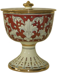 Urn - Pisside Rubino e Oro - Ruby and Gold