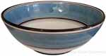 Italian Dessert/Soup Bowl - Black Rim Solid Light Blue - Platino