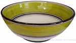 Italian Dessert/Soup Bowl - Black Rim Solid Meadow - Prato