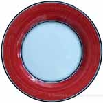 Italian Dinner Plate Black Rim Solid Bordeaux