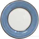 Italian Dinner Plate Black Rim Solid Light Blue - Platino