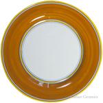 Italian Dinner Plate Yellow Rim Solid Orange