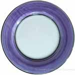Italian Dinner Plate Black Rim Solid Purple - Viola