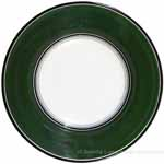Deruta Italian Pasta Plate - Black Border Solid Emerald Green