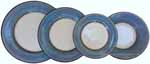 Italian Dinner Place Setting - Black Border Solid Light Blue - Platino