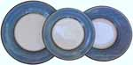 Italian Dinner Place Setting - Black Border Solid Light Blue -Platino