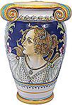 Italian Ceramic Vase - Female Botticelli