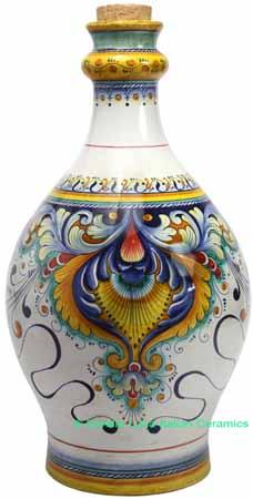 Ceramic Maiolica Decorative Bottle Centerpiece 50cm