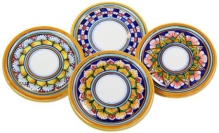 Ceramic Majolica Cup Coaster Border Vario 10cm