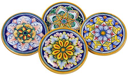 Ceramic Majolica Cup Coaster Full Vario 10cm