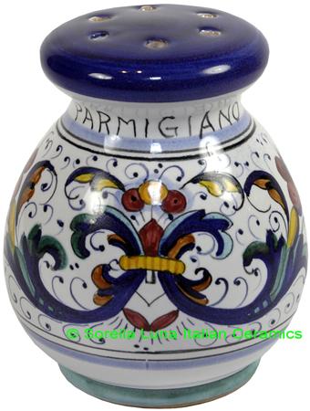 Ceramic Majolica Parmesian Cheese Shaker Ricco Deruta