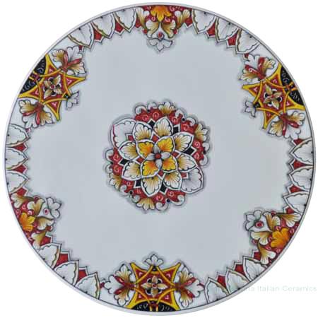 Italian Ceramic Cheese Plate - White Vario Antico 30cm