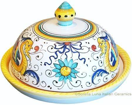 Round Covered Butter Dish - Raffaellesco