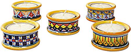 Deruta Italian Ceramic Tee-Lite Candlestick